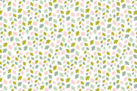 Spring Leaf Quilt 01 fabric by thistleandfox on Spoonflower - custom fabric
