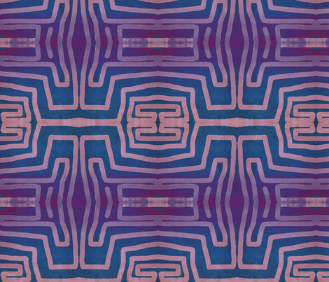 Prple paths fabric by ilcouch on Spoonflower - custom fabric