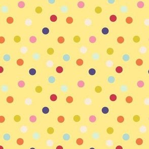Wild polka dots on yellow, version II