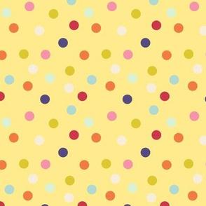 Wild polka dots on yellow, version II