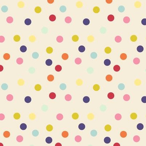 Wild polka dots on ivory