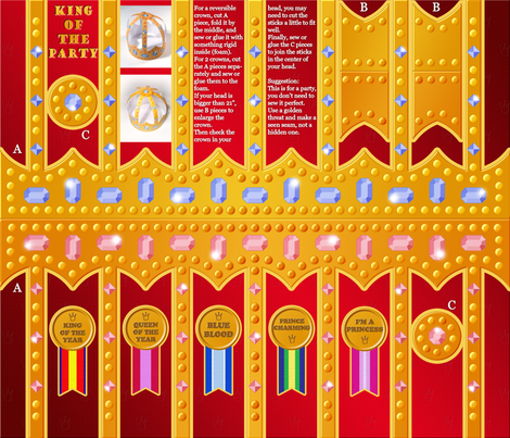 The king of the party fabric by analinea on Spoonflower - custom fabric