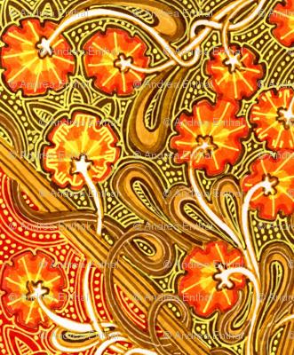Autumn Flower Field Batik