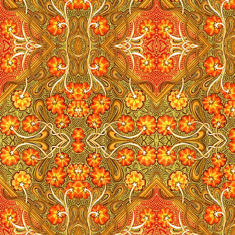 Autumn Flower Field Batik fabric by edsel2084 on Spoonflower - custom fabric