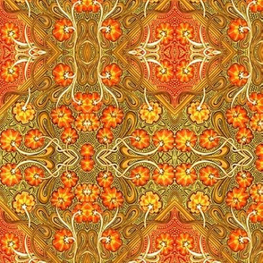 Autumn Flower Field Batik