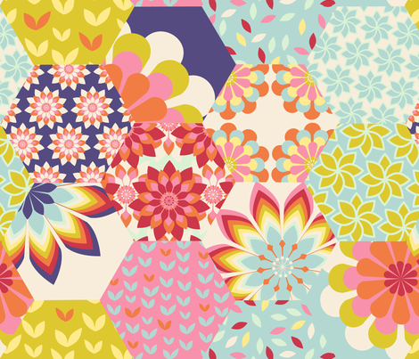 bloomy fabric by brokkoletti on Spoonflower - custom fabric
