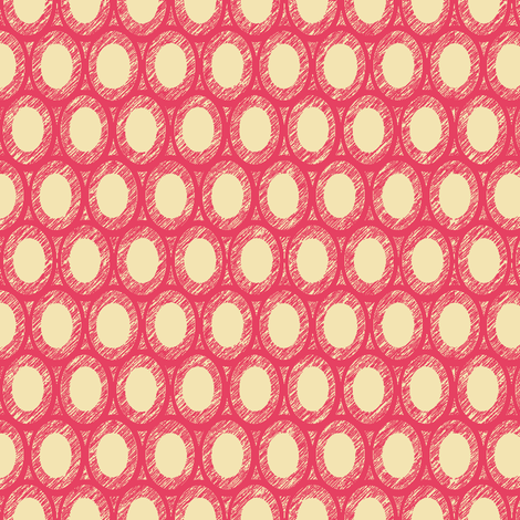 coral egg and dart  fabric by keweenawchris on Spoonflower - custom fabric