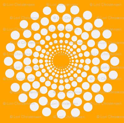 mod orange circle