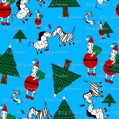 Christmas Zebras