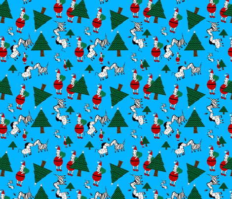 Christmas Zebras fabric by egprestonhouse on Spoonflower - custom fabric