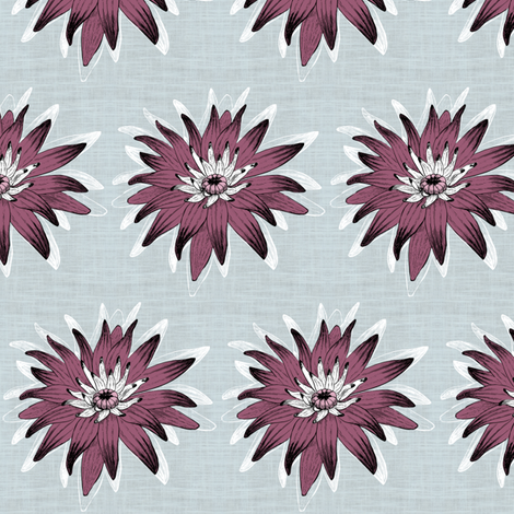 Lily Mauve fabric by brainsarepretty on Spoonflower - custom fabric