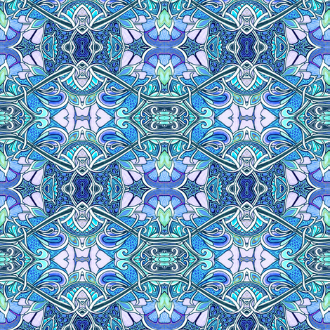 Show Me A Different Sine (blue) fabric by edsel2084 on Spoonflower - custom fabric