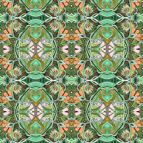 Spring Planting in the Art Nouveau World fabric by edsel2084 on Spoonflower - custom fabric