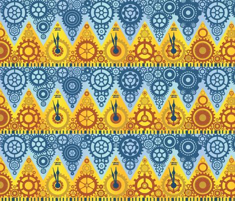 Clockwork Crowns fabric by elramsay on Spoonflower - custom fabric