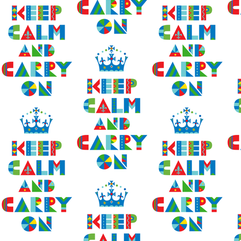 Keep Calm and Carry On fabric by andibird on Spoonflower - custom fabric