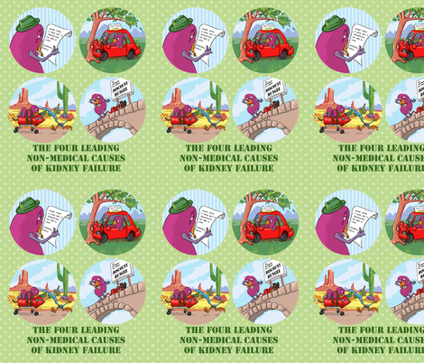 Kidney Failure Humor fabric by chantal_pare on Spoonflower - custom fabric