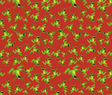 Ditzy Frogs fabric by whimzwhirled on Spoonflower - custom fabric