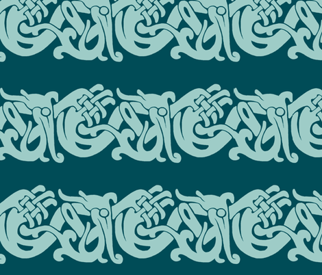 Merida Brave Celtic Border fabric by aimee on Spoonflower - custom fabric