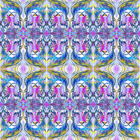 TIGER VIOLET FUSHIA fabric by paysmage on Spoonflower - custom fabric