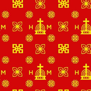 High Quality - Gold and Red