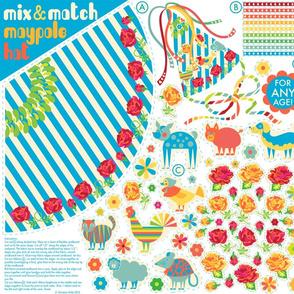 Mix & Match Maypole Party Hat