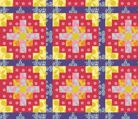 Floral Patchwork fabric by shimmermotif on Spoonflower - custom fabric