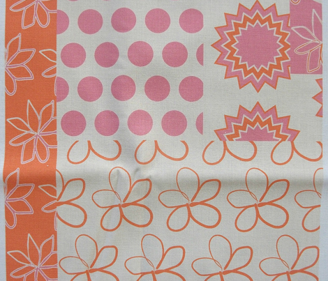 Spring Floral Cheater Quilt Block