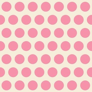 Spring Floral Pink Polka