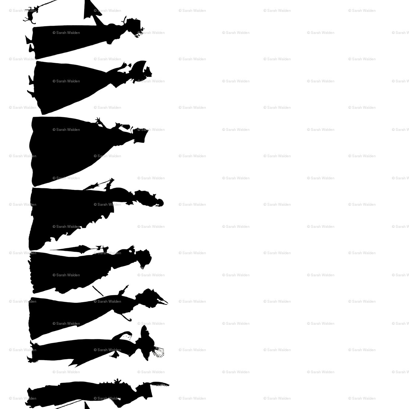 March Of Fashion Black And White Border Print Wallpaper