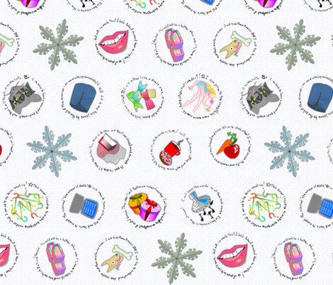 resolutions on ice fabric by glimmericks on Spoonflower - custom fabric