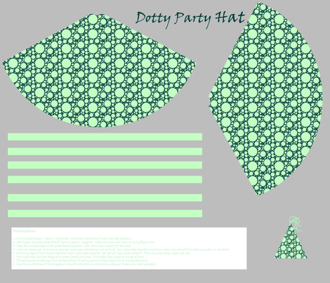 Dotty Party Hat fabric by spikymammal on Spoonflower - custom fabric