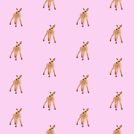 Fawn, Bubblegum Pink fabric by thistleandfox on Spoonflower - custom fabric