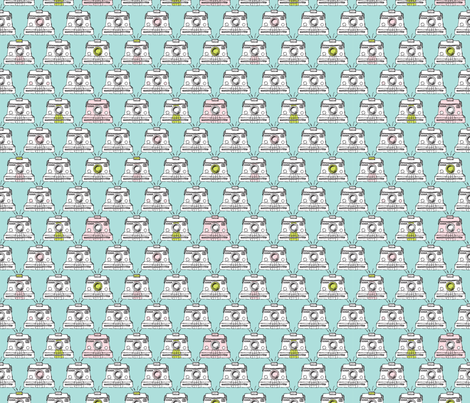 Vintage Polaroid Camera sweet mint toy camera fabric by littlesmilemakers on Spoonflower - custom fabric