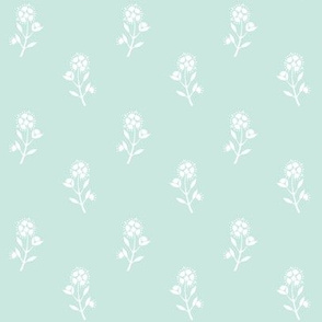 Regency Floral in Sea Spray