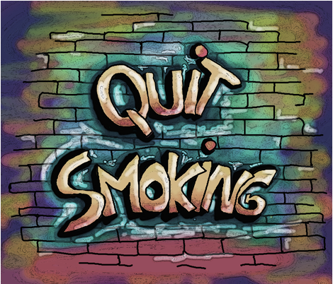 QUIT SMOKING NEUTRAL fabric by paysmage on Spoonflower - custom fabric
