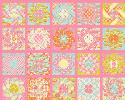 """Spring Floral Cheater Quilt Block"""