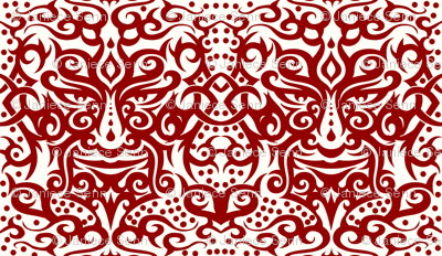Tribal Mask  red/white