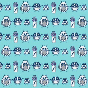 Manly Owls Aqua and Navy