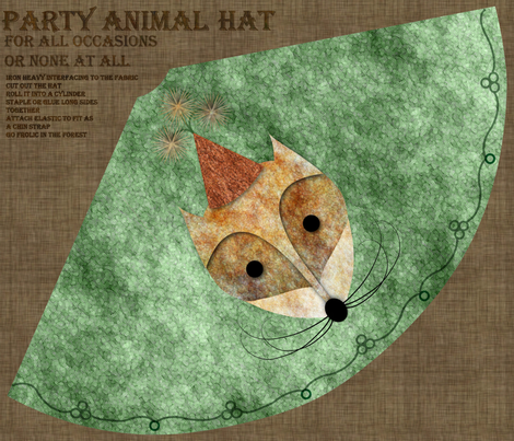 Are you a party animal? fabric by vo_aka_virginiao on Spoonflower - custom fabric