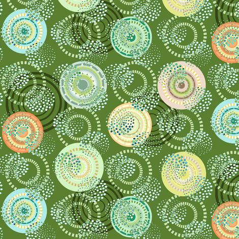 garden wheels fabric by keweenawchris on Spoonflower - custom fabric
