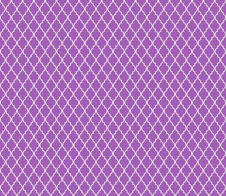 Dark Radiant Orchid Trellis Quatrefoil fabric by vintagegreenlimited on Spoonflower - custom fabric