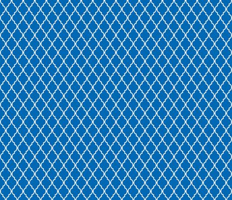 Dazzling Blue_light_quatrefoil_-ch fabric by vintagegreenlimited on Spoonflower - custom fabric