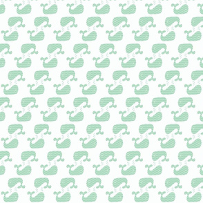Mint Hemlock Green Two Way Chevron Whale
