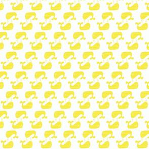 Yellow Freesia Two Way Chevron Whale