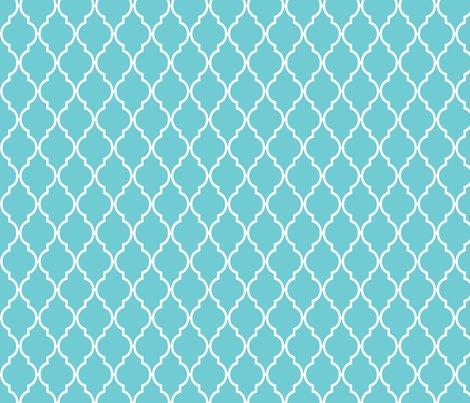 Teal Quatrefoil fabric...