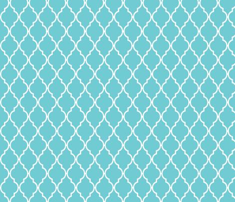 Teal Quatrefoil fabric - vintagegreenlimited - Spoonflower