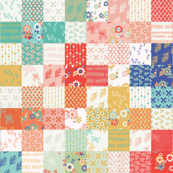 Spring Plus Sign Cheater Quilt