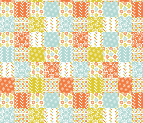 Good Morning Spring! fabric by simple_felicities on Spoonflower - custom fabric