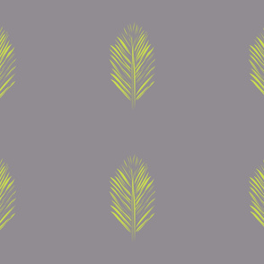 redwood leaf green on gray
