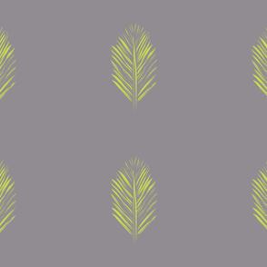 redwood leaf green on gray
